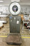 Avery CLA floor standing weigh scale, serial no. 700612 (1970), max 200kg