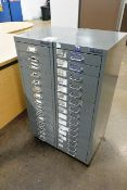 Two 15 drawer filing cabinets