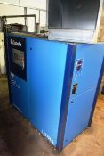 Compair L37RS-13A packaged air compressor, serial no. CD10015280001 (2014), 37kw, 3 phase, 13 bar,