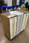 Three 15 drawer filing cabinets