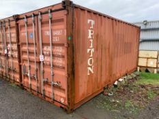 20ft shipping type container, no. TTNU 164887 (Please note: A work Method Statement and Risk
