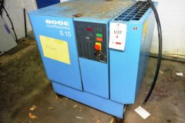 Boge SIS Autotronic air compressor, serial no. 24942 (1997), 10 bar, 11kw, 3 phase (Please note: A