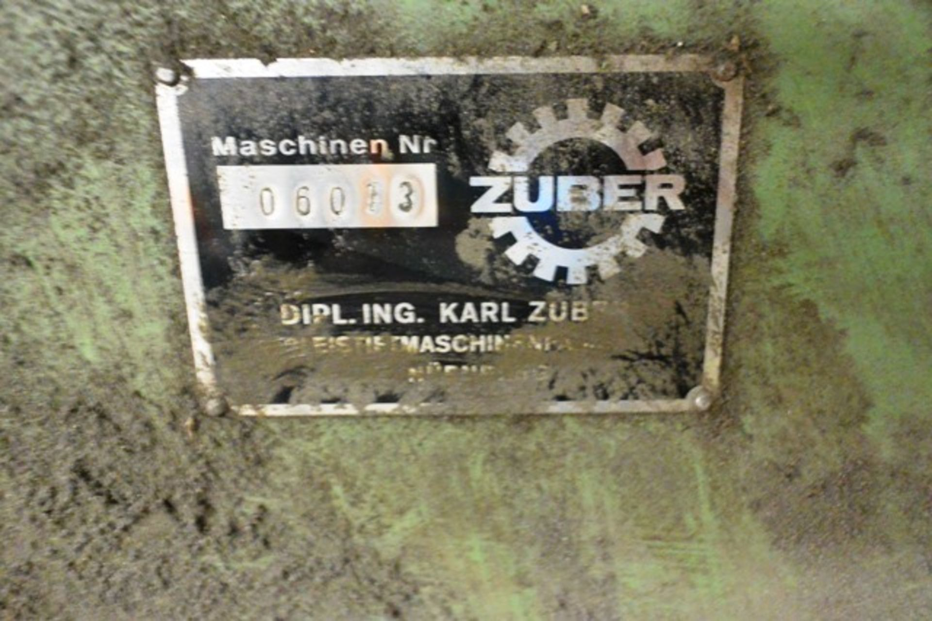 Zuber horizontal surface grinder, machine no. 06013, approx table dimension 900 x 270mm - Image 6 of 7