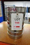 Set of 5 Endacott laboratory sieves, 500 micron aperture