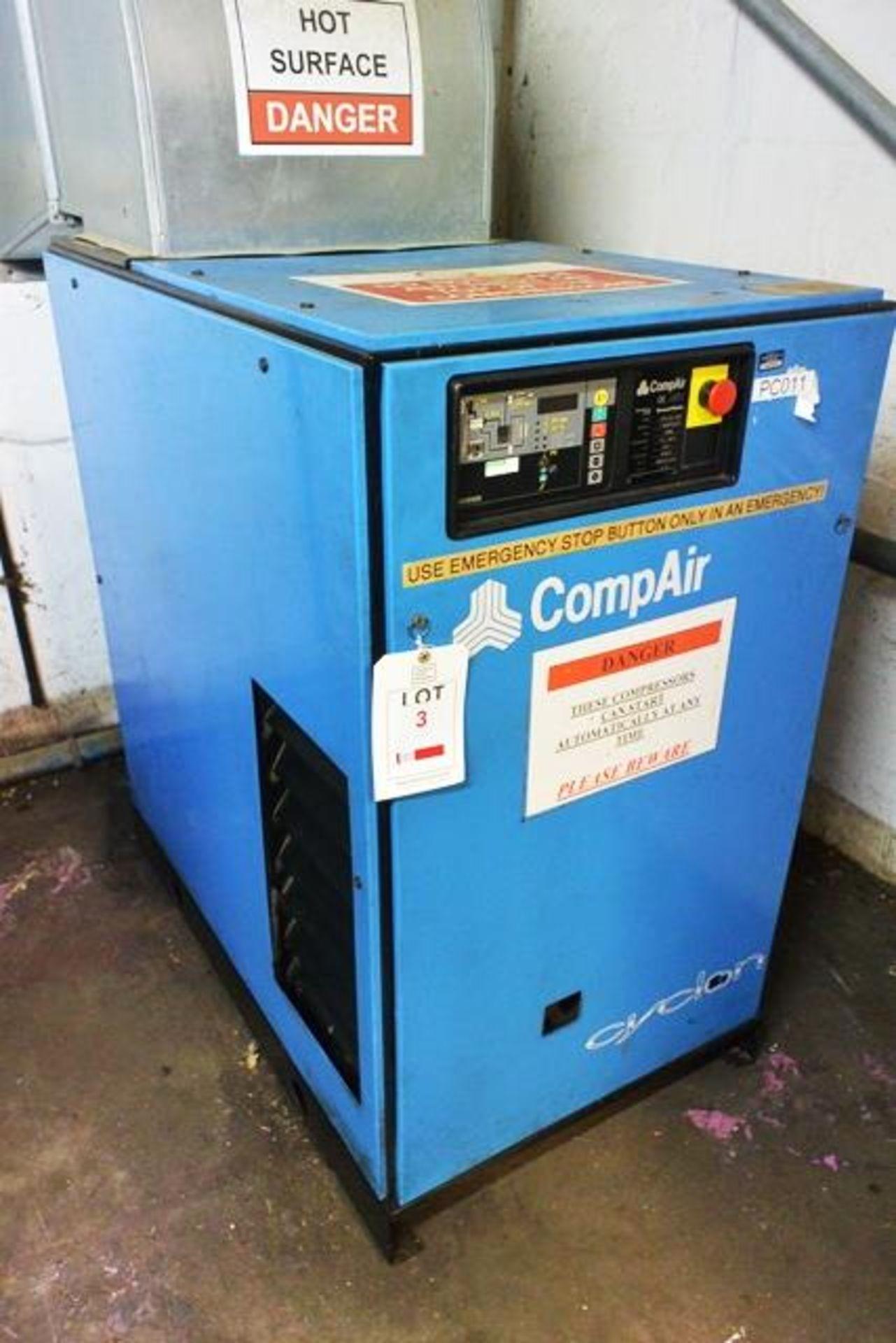 Compair Cyclon 218 air compressor, serial no. F164/0833 (1996), 7.5 bar, 22.1kw, 3 phase, Last...