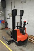 BT Stax 10 battery operated stacker truck, model SWE1205, type OEC 247702-250, mast no. 561 9869 (