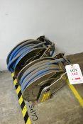 Two wall mountable hose reels