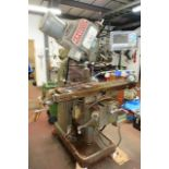 King Rich KRV2000 turret mill, serial no. 3639, with digital read out, approx table size 1220mm x