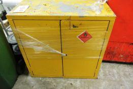 Twin door steel frame flammable liquid cabinet (no key)