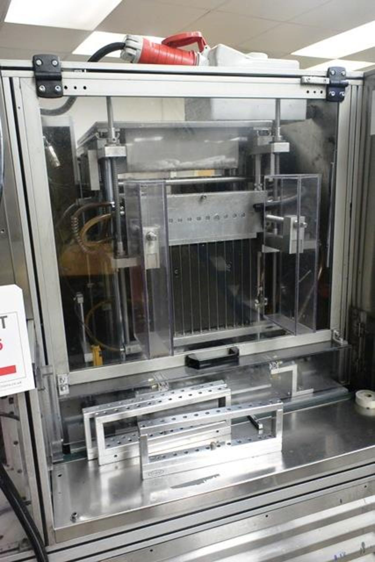 Yo-Hau stainless steel filling machine, type L85ND3, with mould preheat and 4-door/twin side chiller - Image 3 of 9