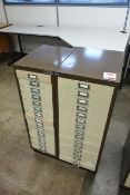 Two Bisley 15 drawer steel filing cabinets