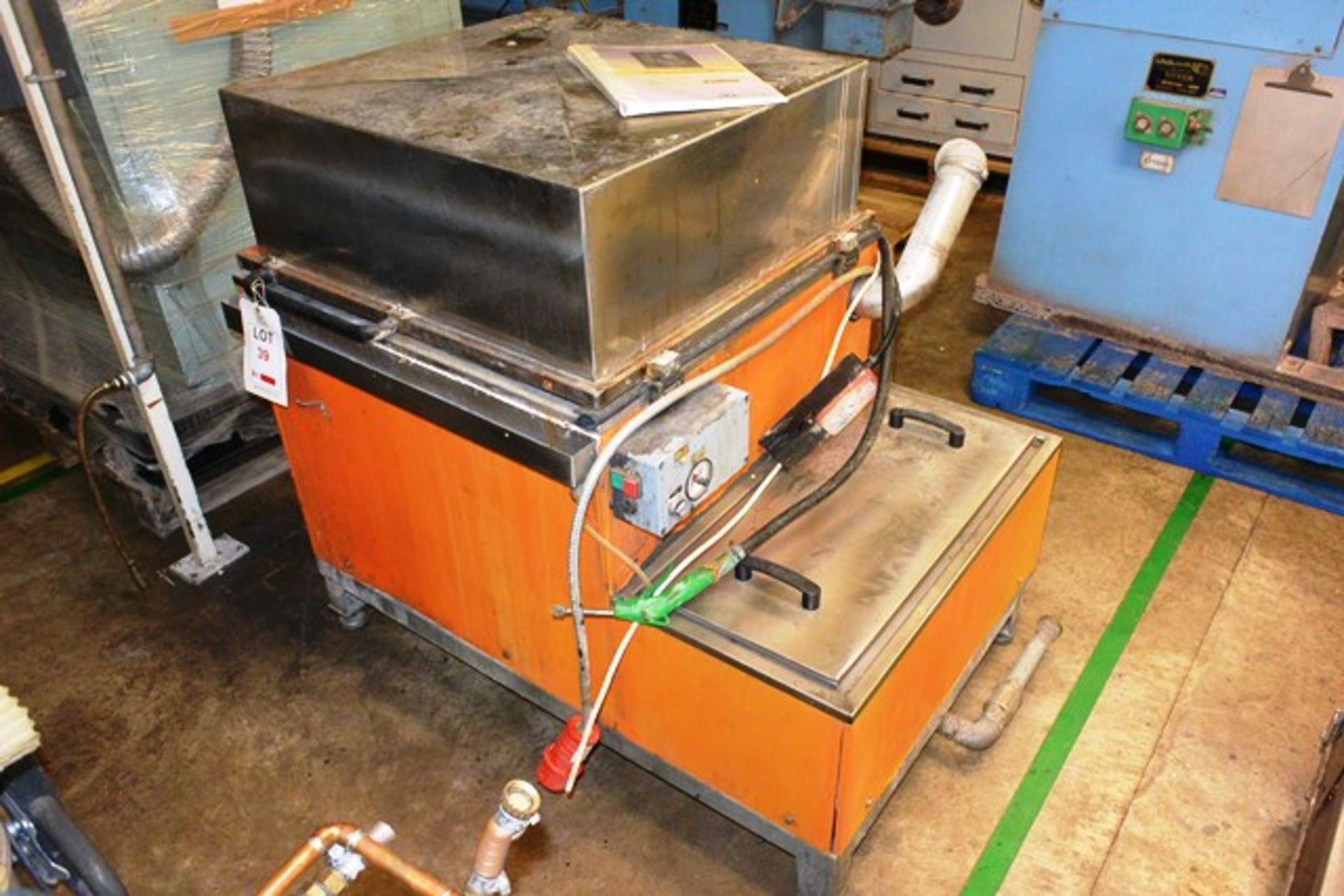 Turbex 800 No. 018545 industrial washer unit, 3 phase (working condition unknown)