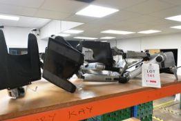 Six Ergotron desk mountable screen stands