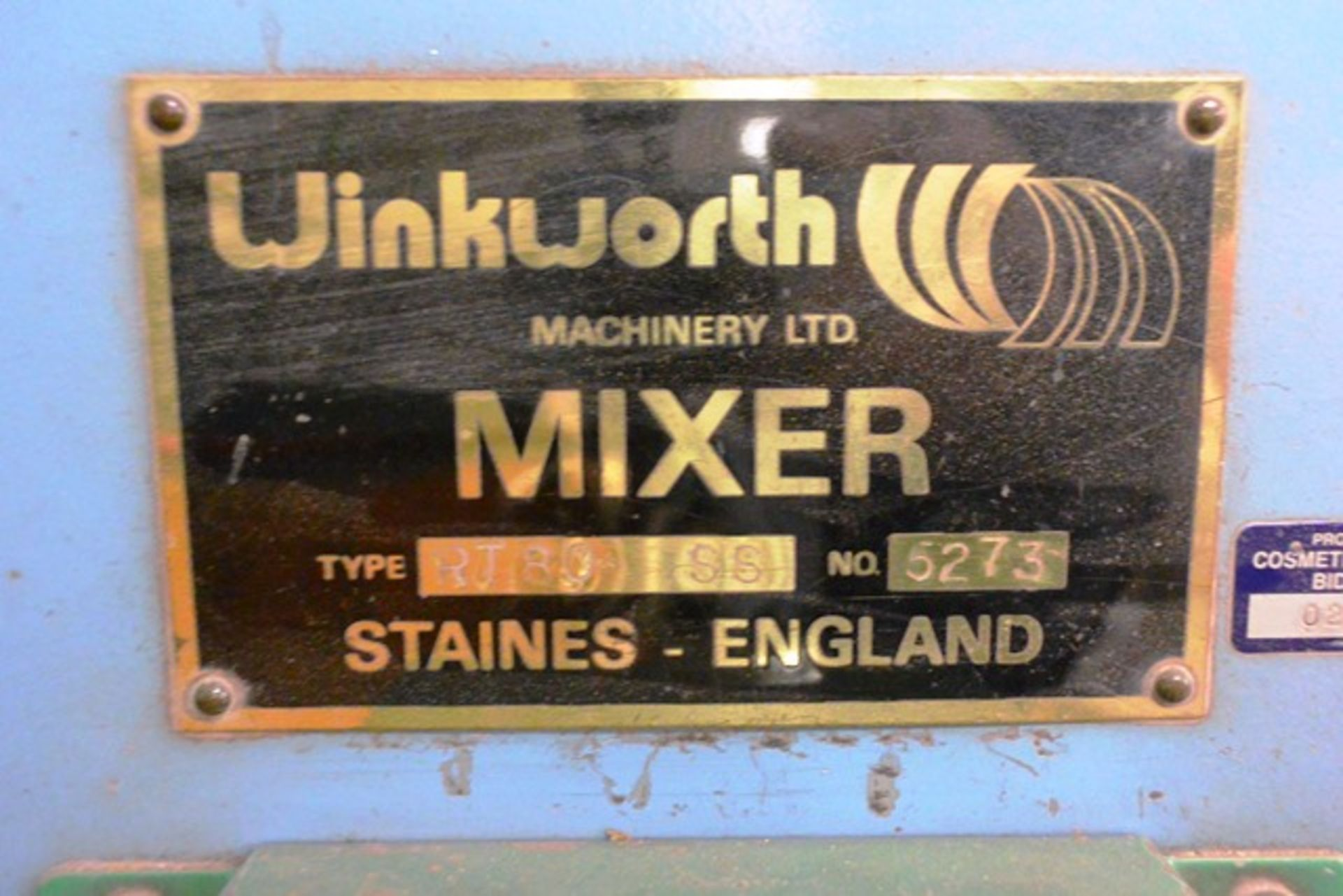 Winkworth RT80 SS mixer, serial no. 5273 (please note: currently disconnected) - Image 5 of 5