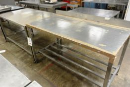 Two various Hygienox stainless steel tables, approx dimensions to be confirmed shortly