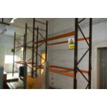 Two bays of adjustable boltless pallet racking, approx height 4000mm, 2750mm width per bay (Please