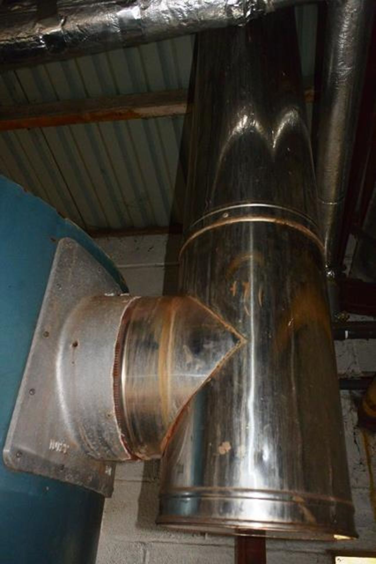 Fulton steam boiler, model 30E, serial no. B7026, design pressure 895 N/mm², test pressure /34N/ - Image 9 of 11