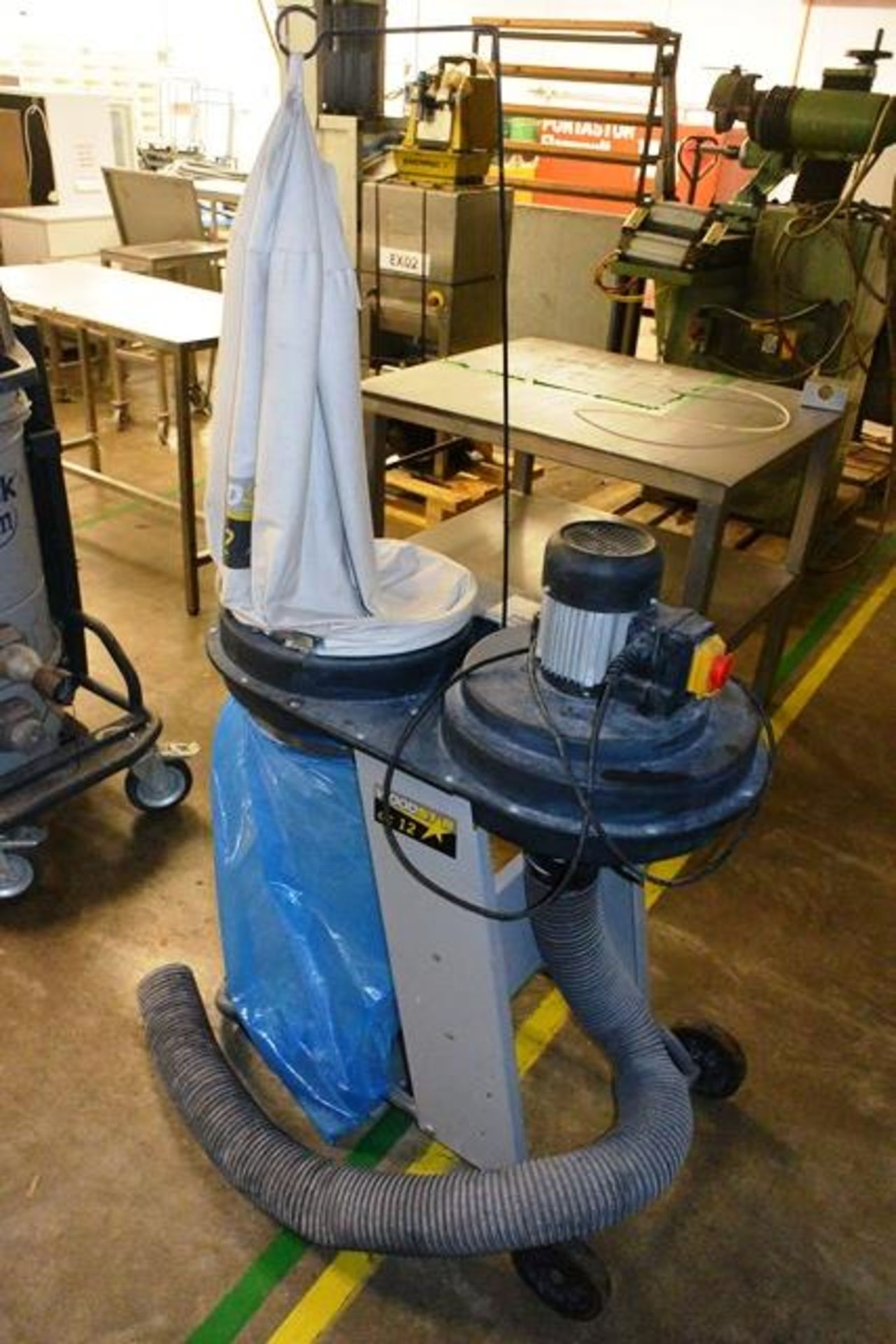 Wood Star mobile single bag dust extraction unit, serial no. 1112, 240v