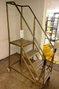 4-tread, steel frame mobile steps