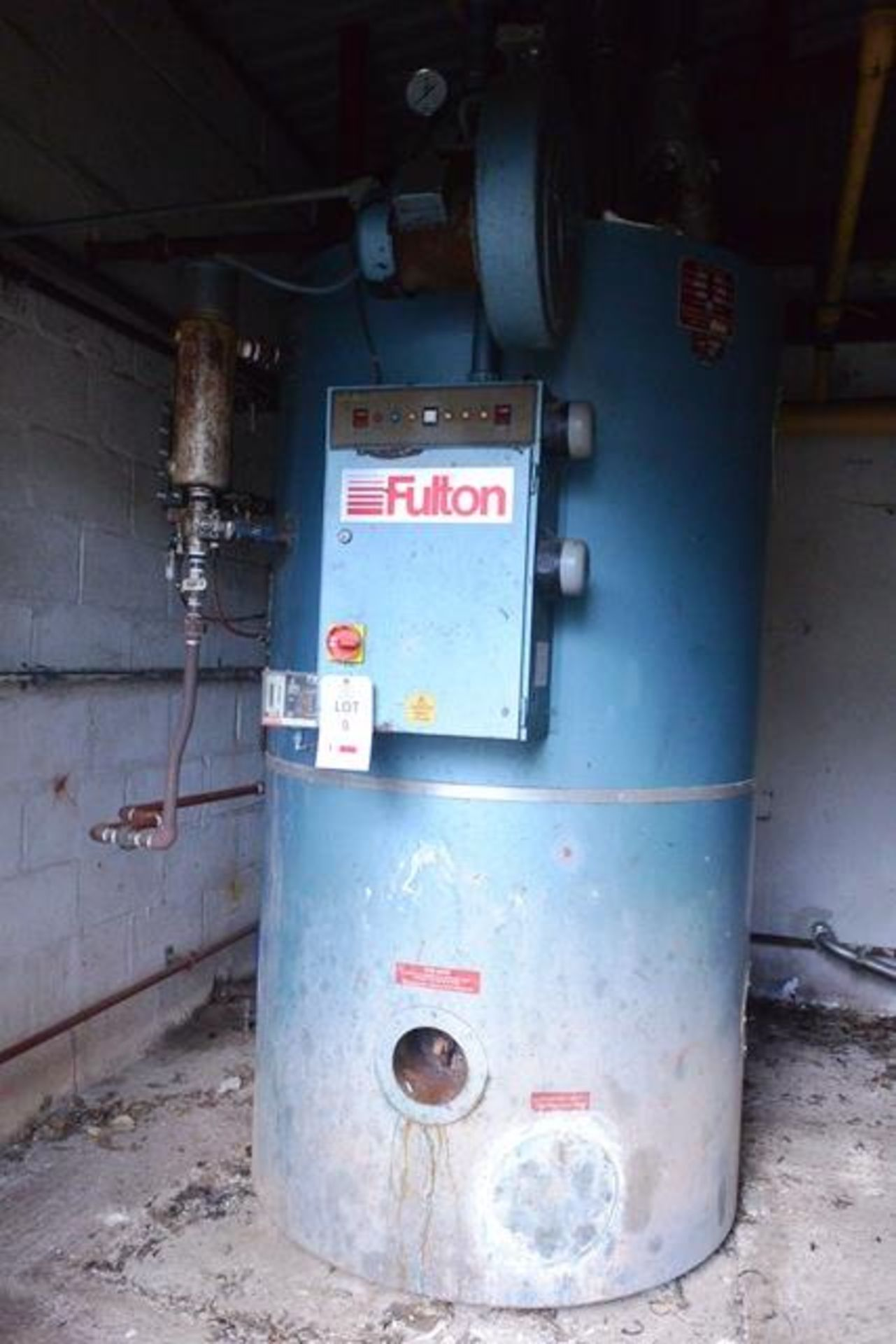 Fulton steam boiler, model 30E, serial no. B7026, design pressure 895 N/mm², test pressure /34N/