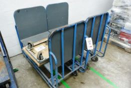 Two mobile transport trollies