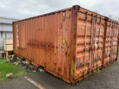 20ft shipping type container, no. TTNU 140992 (Please note: A work Method Statement and Risk