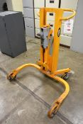 W and J HDP-35, 350kg max capacity mobile barrel lifter, serial no. 150-04-03 (2003) (NB: This