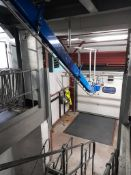Garment unloading and hanging storage system; to include two powered garment infeeds, bespoke