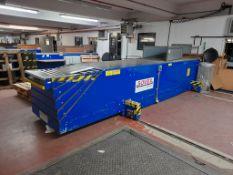 Sovex TL4 telescopic transverse boom conveyor, year 2014, s/n SHA-TTB-01 (Bay 15). Belt width 600mm,