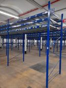 Static pallet racking - 193 bays, each with 3 pairs of beams and 24 metal shelf partitions(Beam