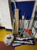 Quantity of brushes, shovels etc., as lotted