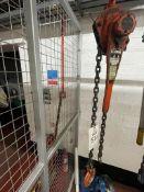 Nitchi RB30N 3-ton lever hoist, s/n 8502025. NB: This item has no record of Thorough Examination.