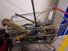 Trolley of various tools, as lotted