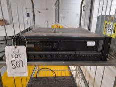 Inter M PAM-120 public address amplifier, with tuner module