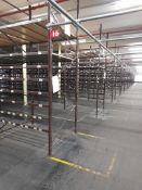 Light duty metal storage shelving racking - 50 uprights, with 250 pairs of beams and associated