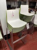 19 - Arper Green & white poser chairs (photo for illustration purposes)