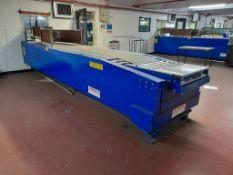 Sovex telescopic boom conveyor (Bay 13). Belt width 580mm, conveyor width 1100mm, unextended