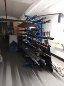 Single arm rack, 2100mm wide x 700 deep x 2000mm high, (contents excluded)