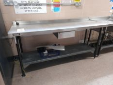 3 - Bartlett stainless steel prep tables with under shelf and drawer