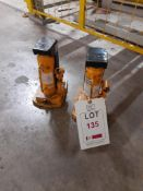 2 - Raptor Products 2-ton hydraulic toe jacks. NB: This item has no record of Thorough
