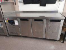 Foster GSC/1/3H electric 3 door fridge counter, s/n E5005822, 01/07/2005