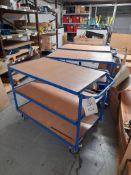 2 - Fetra 3-tier trolleys and 1 - Fetra 2-tier trolley (blue)