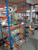 Quantity of cabling, wiring and piping, as lotted (Rack excluded)