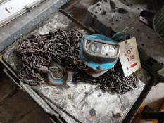 Nitch H40 1-ton chain hoist, Serial no. 8510131. NB: This item has no record of Thorough