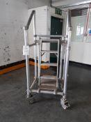 Mobile scaffold platform ladder, as lotted