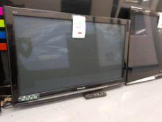"Panasonic Viera TX-P42X10B 42"" television, with remote"