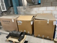 4 - Large boxes of rubber belt, as lotted on 4 pallets
