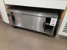 Undercounter mobile electric hot cupboard, s/n ZZ243322, purchase date 01/02/2015