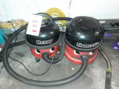 2 - Henry vacuum cleaners, 240v, as lotted