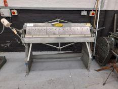 Morgan Rushworth manual box and pan folder (bender), 1280mm working gap